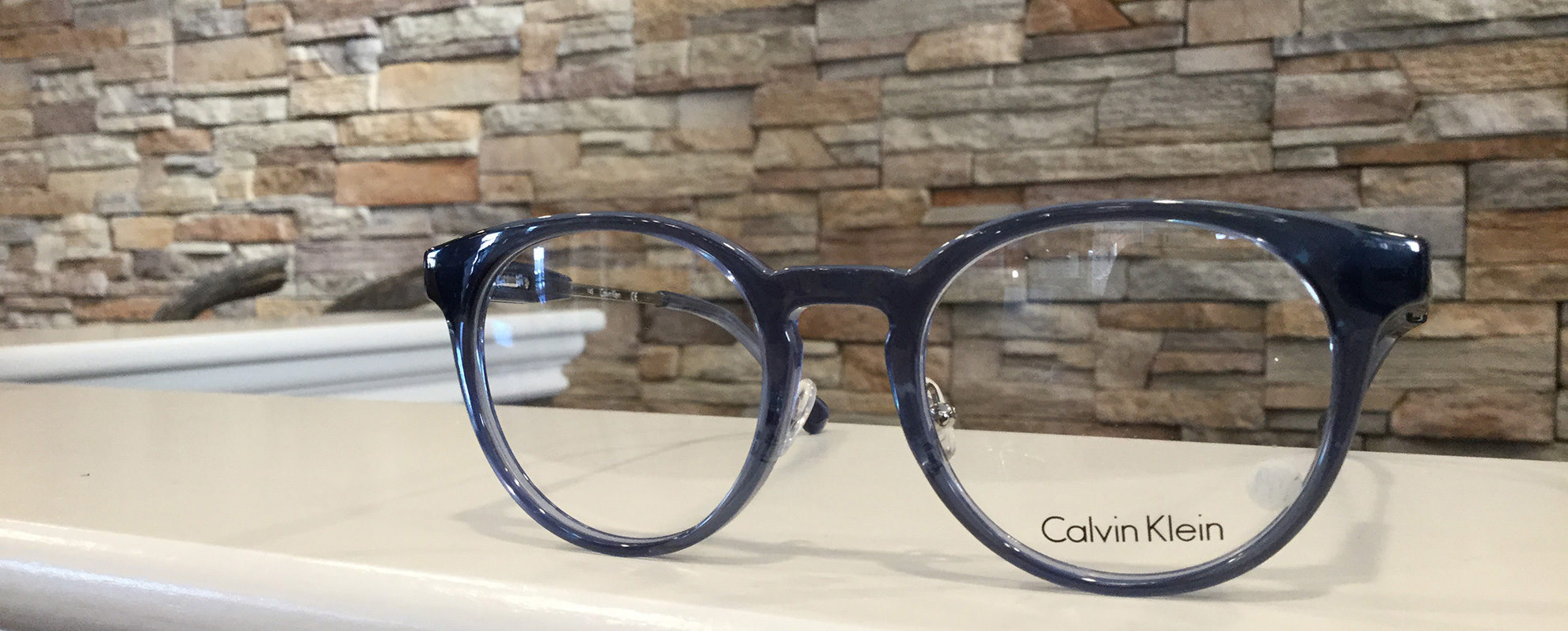 a pair of Calvin Klein glasses frames